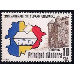 (156) Andorra. 1983. 10 Pesetas. Sufragio Universal (Nuevo)