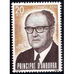 (C2) Andorra. 1983. 20 Pesetas. Jaume Sansa Nequi (Nuevo)
