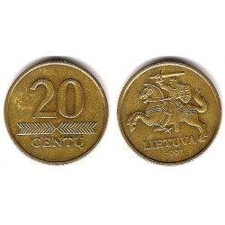(107) Lituania. 1997. 20 Centu (MBC)