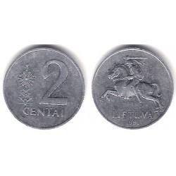 (86) Lituania. 1991. 2 Centas (MBC)