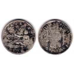 Gobierno Provisional. 1869. 2 Pesetas (RC) Ceca de Madrid SN-M. Falsa de época