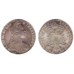 Austria. 1780. Thaler (SC) (Plata) Reacuñación Oficial