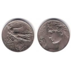 (44) Italia. 1913(R). 20 Centesimi (MBC+)
