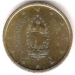 San Marino. 2018. 50 Céntimos (SC)