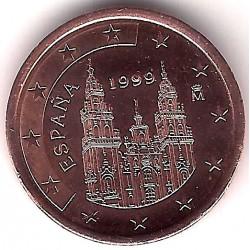 España. 1999. 5 Céntimos (EBC+) Exceso de metal