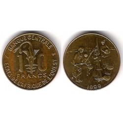 (10) Estados África Oeste. 1999. 10 Francs (MBC)