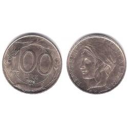 (159) Italia. 1994(R). 100 Lira (EBC)