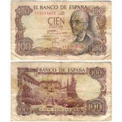 Estado Español. 1970. 100 Pesetas (BC) Serie 7V. Manchado
