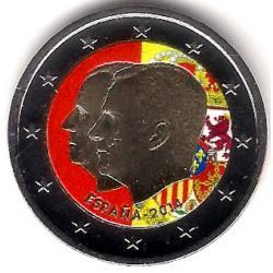 España. 2014. 2 Euro (SC) Coloreada