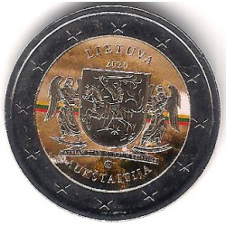 Lituania. 2020. 2 Euro (SC) Coloreada