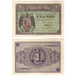 Estado Español. 1938. 1 Peseta (EBC) Serie G