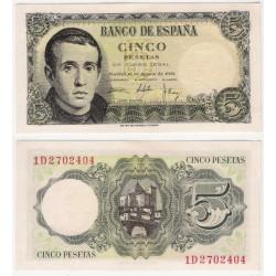 Estado Español. 1951. 5 Pesetas (EBC+) Serie 1D