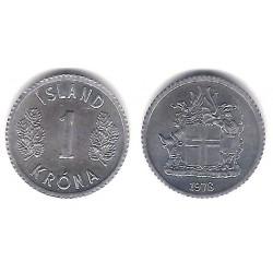(23) Islandia. 1978. 1 Krona (SC)
