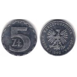 (Y81.3) Polonia. 1990. 5 Zlotych (SC)