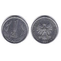 (Y49.3) Polonia. 1990. 1 Zloty (SC)
