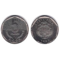 (214.3) Costa Rica. 1993. 5 Colones (SC)