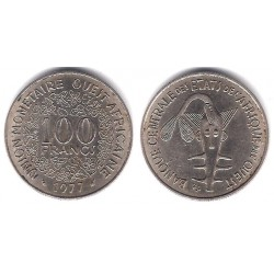 (4) Estados África Oeste. 1977. 100 Francs (MBC)