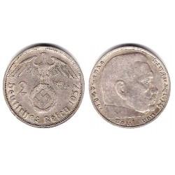 (93) Alemania (III Reich). 1937(F). 2 Mark (MBC) (Plata)
