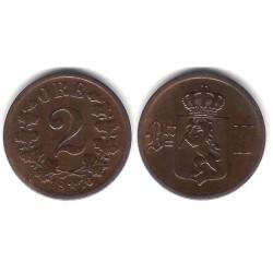 (353) Noruega. 1876. 2 Ore (MBC)