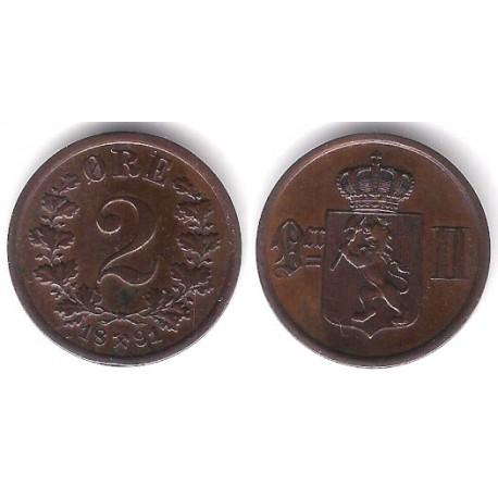 (353) Noruega. 1891. 2 Ore (EBC)