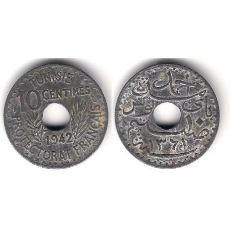 (267) República Tunecina. 1942. 10 Centimes (MBC+)