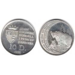 (76) Andorra. 1992. 10 Diners (Proof) (Plata)