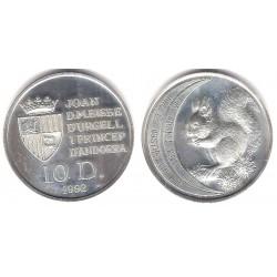 (74) Andorra. 1992. 10 Diners (SC) (Plata)