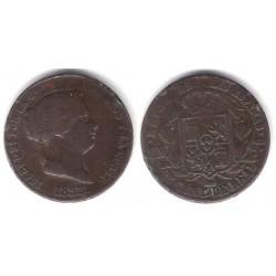 Isabel II. 1855. 25 Céntimos de Real (BC) Ceca de Segovia