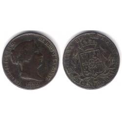 Isabel II. 1859. 25 Céntimos de Real (MBC-) Ceca de Segovia
