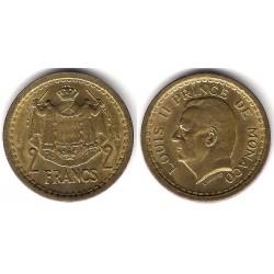 (121a) Mónaco. 1945. 2 Francs (MBC-)