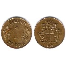 (12a) Islandia. 1975. 1 Krona (MBC)
