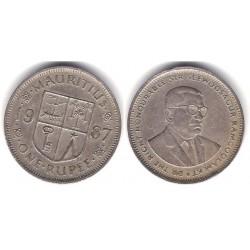 (55) Mauricio. 1987. 1 Rupee (MBC)