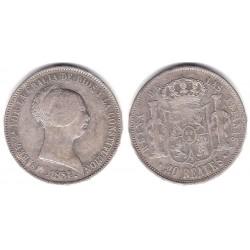Isabel II. 1851. 20 Reales (MBC) (Plata) Ceca de Madrid