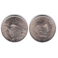 Estado Español. 1957*(67). 25 Pesetas (EBC)