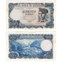 Estado Español. 1971. 500 Pesetas (MBC) Serie I. Manchas
