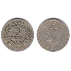 (21) África del Oeste Británica. 1938. 3 Pence (BC+)