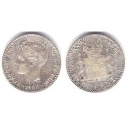 Alfonso XIII. 1900*(0-0). 50 Céntimos (MBC) (Plata) Ceca de Madrid SM-V