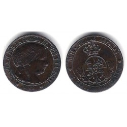 Isabel II. 1868. 1 Céntimo de Escudo (EBC+) Ceca de Barcelona OM