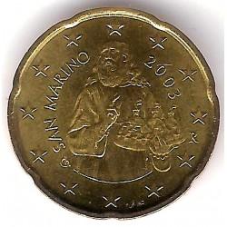 San Marino. 2003. 20 Céntimos (SC)