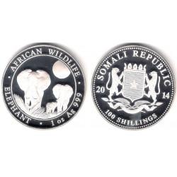 Somalia. 2014. 100 Shillings (Proof) (Plata)