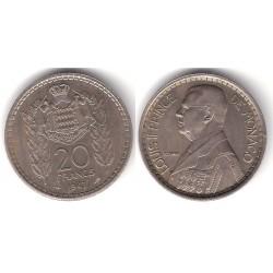 (124) Mónaco. 1947. 20 Francs (MBC+)