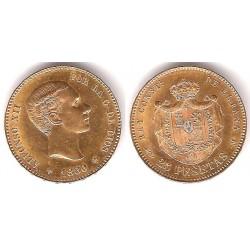 Alfonso XII. 1880*(18-80). 25 Pesetas (SC) (Oro) Ceca de Madrid MS-M