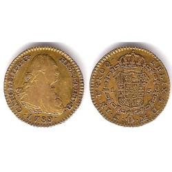 Carlos IV. 1789. 1 Escudo (BC+) (Oro) Ceca de Madrid MF