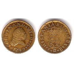 Felipe V. 1749. ½ Escudo (BC) (Oro)