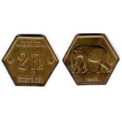 (25) Congo Belga. 1943. 2 Francs (MBC+)