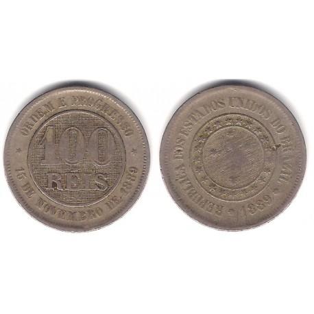 (492) Brasil. 1889. 100 Reis (BC+)