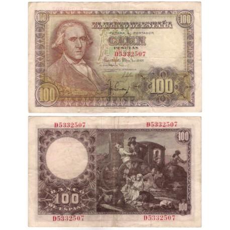 Estado Español. 1948. 100 Pesetas (BC+) Serie D