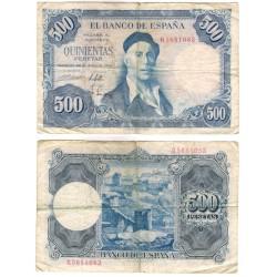 Estado Español. 1954. 500 Pesetas (BC-) Serie Q