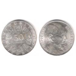 (2909) Austria. 1970. 50 Schilling (SC) (Plata)