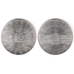 (2914) Austria. 1972. 50 Schilling (SC) (Plata)